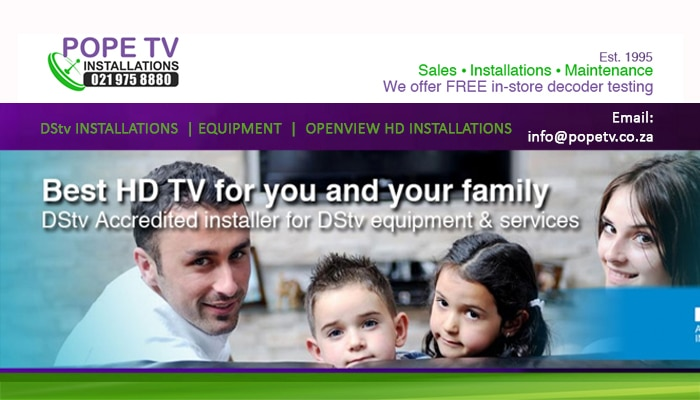 Pope TV Installations - Accredited DStv Installers