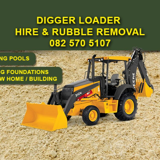 Digger Loader Hire & Rubble Removal